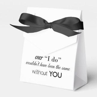 Caja de encargo del favor del boda