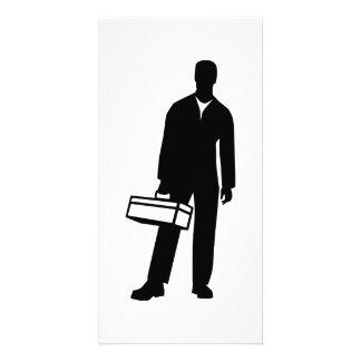 Caja de herramientas del artesano tarjeta fotografica