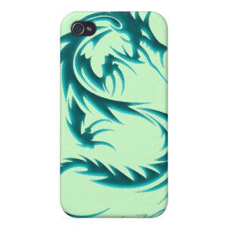 Caja de iPod del dragón verde iPhone 4/4S Fundas