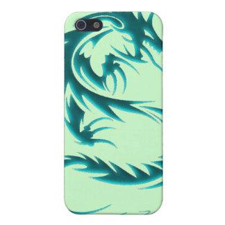 Caja de iPod del dragón verde iPhone 5 Funda