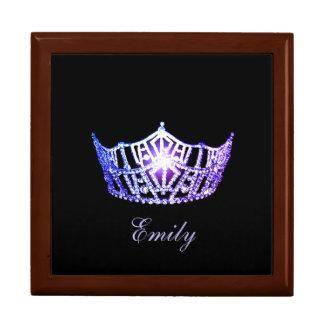 Caja de Jewerly del nombre personal de la corona