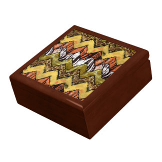 Caja de joyería del safari de Chevron Caja De Regalo