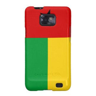 caja de la bandera de país de Guinea-Bissau Samsung Galaxy SII Fundas