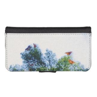 Caja de la cartera de IPhone de las mariposas de