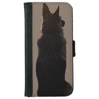 Caja de la cartera del iPhone del pastor alemán