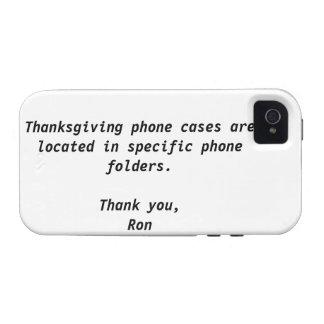 Caja de la casamata de la acción de gracias Case-Mate iPhone 4 funda