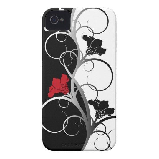 Caja de la casamata del iPhone 4/4S de las flores Funda Para iPhone 4