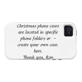Caja de la casamata del navidad iPhone 4/4S carcasas