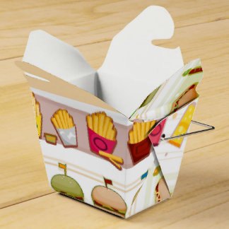 Caja de la comida del tema de los alimentos de