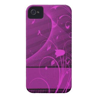 caja de la flor de la lila iPhone 4 Case-Mate coberturas