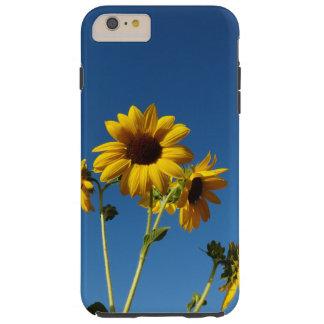 Caja de la foto del girasol y de la abeja funda resistente iPhone 6 plus