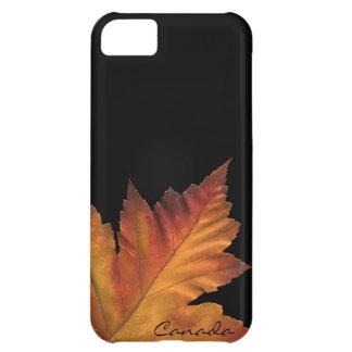 Caja de la hoja de arce del otoño de Canadá del Funda Para iPhone 5C