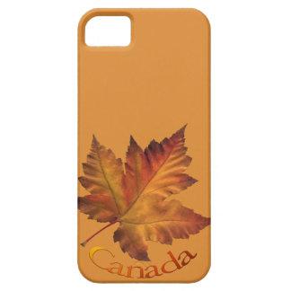 Caja de la hoja de arce del otoño de Canadá del iPhone 5 Case-Mate Fundas