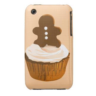 Caja de la magdalena iPhone3g del hombre de pan de iPhone 3 Case-Mate Protectores