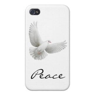 Caja de la mota de la paloma de la paz iPhone 4/4S fundas