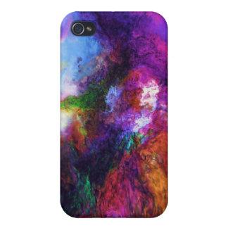 Caja de la mota del remolino del color iPhone 4 protector