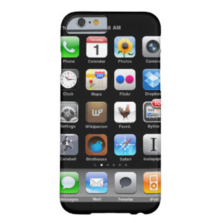 caja de la pantalla de inicio del iPhone Funda Barely There iPhone 6