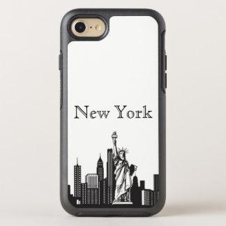 Caja de la silueta del horizonte de Nueva York Funda OtterBox Symmetry Para iPhone 7