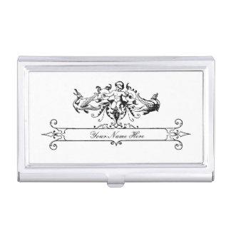 Caja de la tarjeta de visita de la querube del cajas de tarjetas de negocios