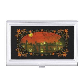 Caja de la tarjeta de visita, tema de Halloween