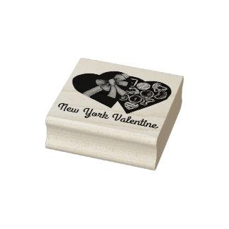 Caja de la tarjeta del día de San Valentín NYC de Sello De Caucho