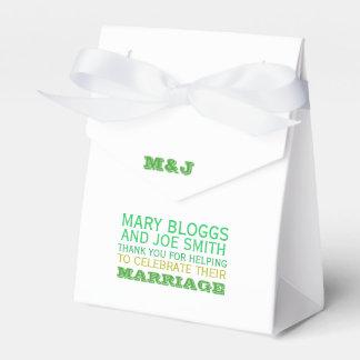 Caja de la tienda del favor del boda del tema de