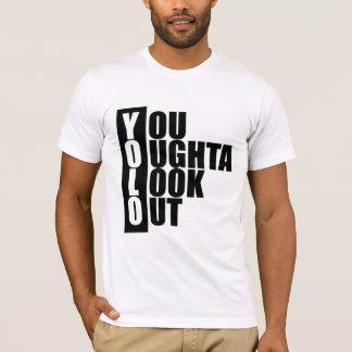 Caja de la vertical de YOLO Camiseta