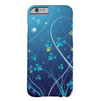 caja de las flores del azul de océano del caso del funda de iPhone 6 barely there