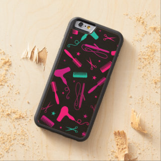 Caja de madera colorida del pelo y del teléfono de funda de iPhone 6 bumper arce