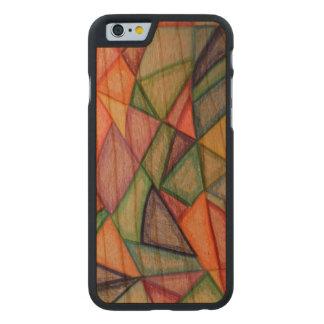 caja de madera de la cereza de parachoques del funda de iPhone 6 carved® de cerezo
