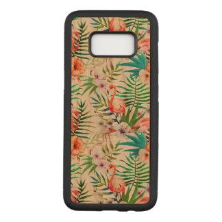 Caja de madera de Samsung de la cereza tropical de Funda Para Samsung Galaxy S8 De Carved