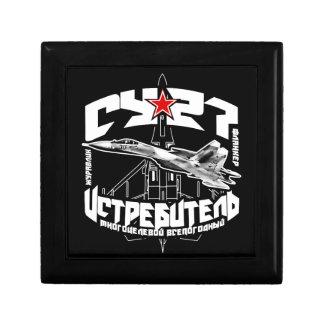 Caja de madera del recuerdo de la joyería Su-27