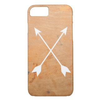 Caja de madera del teléfono de las flechas funda iPhone 7