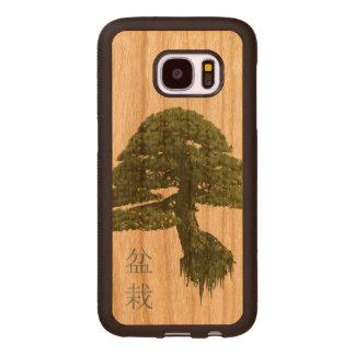 Caja de madera flotante de la galaxia S7 del árbol Fundas De Madera Para Samsung S7
