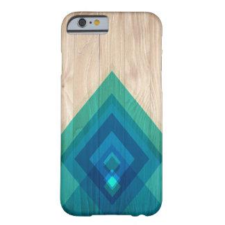 Caja de madera y del teléfono de los diamantes funda barely there iPhone 6