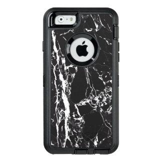Caja de mármol blanco y negro de Otterbox D Iphone Funda OtterBox Defender Para iPhone 6