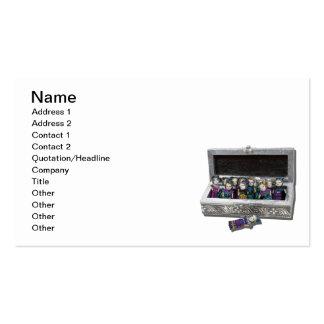 Caja de muñecas de la preocupación tarjetas de visita