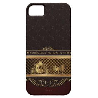 Caja de oro de lujo del iPhone 5 del boda iPhone 5 Protectores