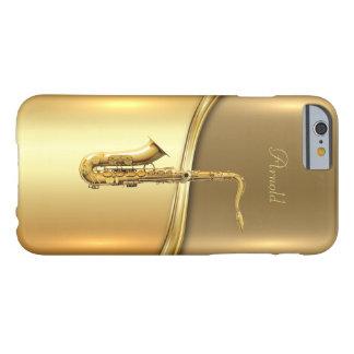 Caja de oro del iPhone 6/6s del fondo del saxofón Funda Barely There iPhone 6