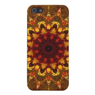 Caja de oro del iPhone de la flor de la geometría  iPhone 5 Cárcasa