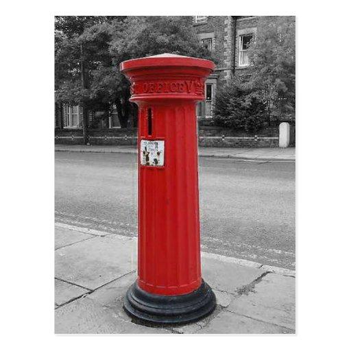Caja de pilar británica del Victorian Tarjeta Postal