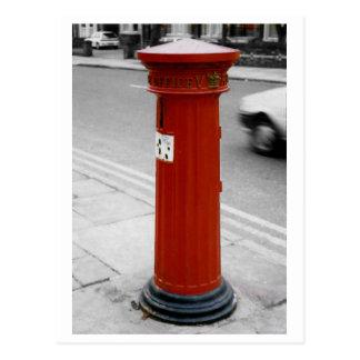 Caja de pilar británica - Victorian 1856 estriado Tarjetas Postales