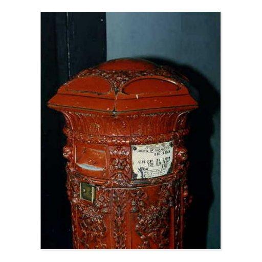 Caja de pilar elaborada de la caja de pilar 1857 b postal