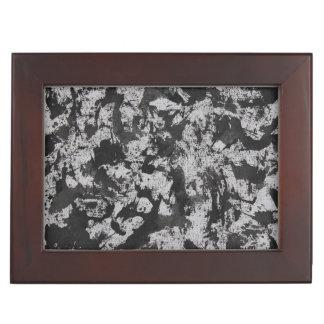 Caja De Recuerdos Acuarela negra en blanco