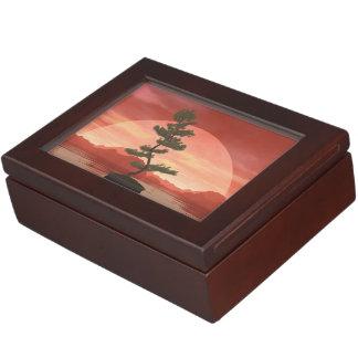 Caja De Recuerdos Árbol de los bonsais del pino escocés - 3D rinden