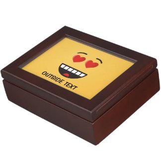 Caja De Recuerdos Cara sonriente con los ojos en forma de corazón