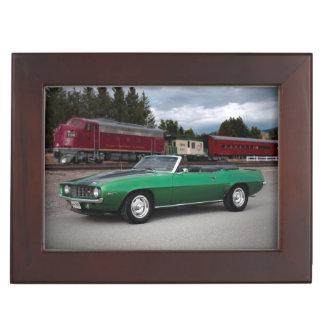 Caja De Recuerdos Coche clásico convertible 1969 de Chevy Camaro