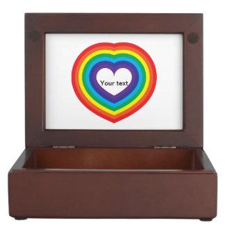 Caja De Recuerdos Corazón del arco iris