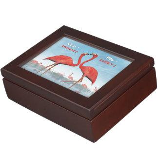 Caja De Recuerdos Cortejo de los flamencos: usted = impresionante,