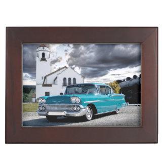 Caja De Recuerdos Depósito 1958 de tren clásico de coche del Bel Air